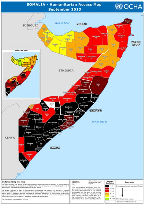 international vacancies somalia unjobs somalia humanitarian access map as of september 2013