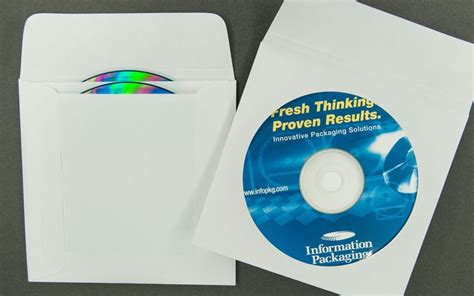 Magic Cd Envelope White cd dvd envelope plain white with window and 1 1 2 quot flap 2 pocket paper archives bank