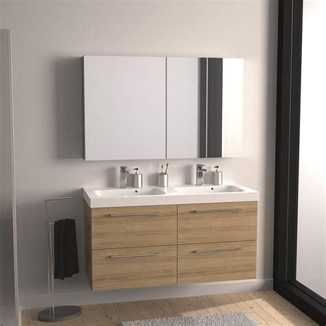 Superbe Leroy Merlin Meuble De Salle De Bain Avec Vasque #3: meuble-sous-vasque-l-121-x-h-57-7-x-p-46-cm-imitation-chene-sensea-remix.jpg