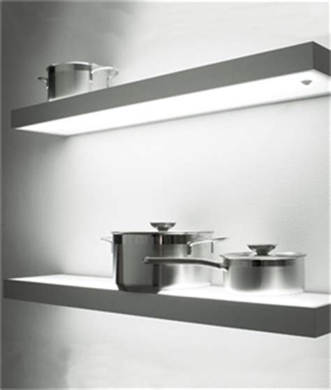 floating kitchen shelves with lights floating illuminated shelves for kitchens bathrooms