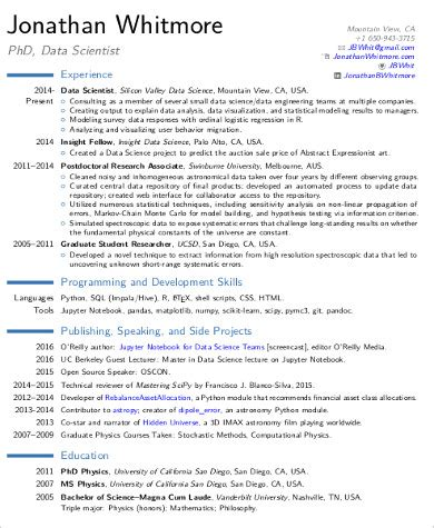 data scientist resume sle sle data scientist resume 7 exles in word pdf