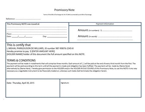 promissary note template 45 free promissory note templates forms word pdf