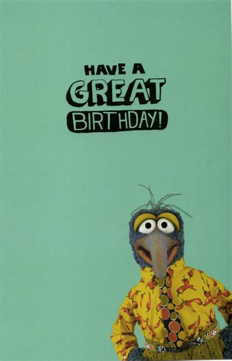 Free Gift Cards Without Completing Offers - gonzo the great weird proud birthday card cards love kates