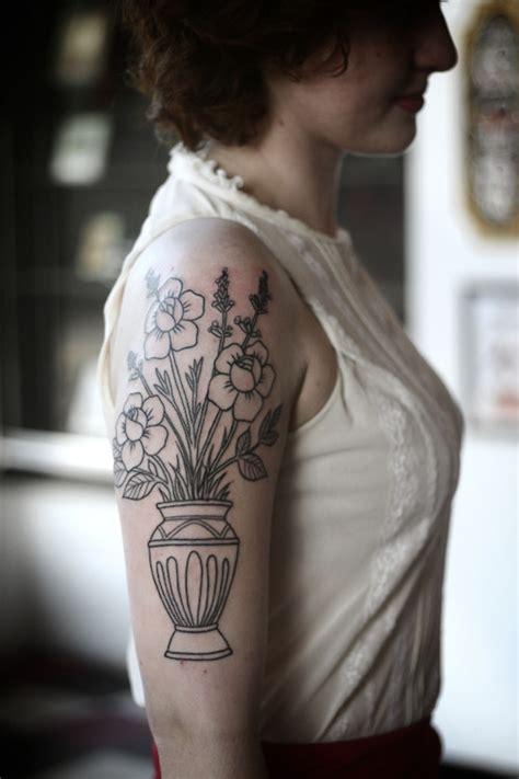 Tattooed Flower Vase flower vase best ideas designs