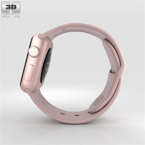 Mnny2 Apple Series 2 38mm Gold Pink Sand Sport Band apple series 2 38mm gold aluminum pink
