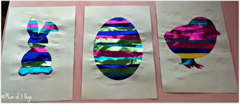Paper Craft For Boys - easy easter craft for children easter bunny and