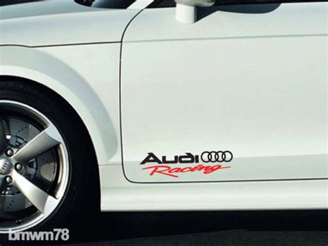 Tuning Aufkleber Audi by 2 Audi Racing Decal Sticker A4 A5 A6 A7 A8 S4 S5 S8 Q5 Q7