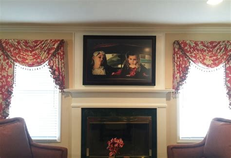 dated window treatments transforming a dated fireplace artistry interiors llc