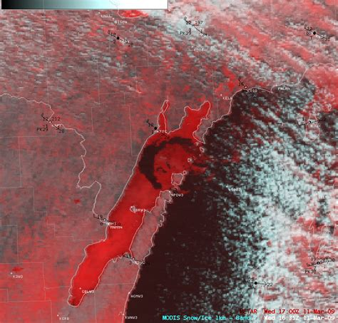 false color image drifting field in green bay 171 cimss satellite