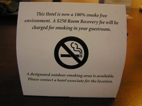 no smoking signs hotel rooms bed and nightstand picture of fairfield inn east
