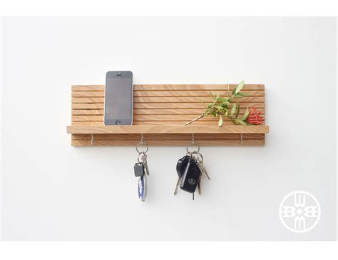 Shelf With Key Hooks by Key Holder With Shelf Modern Shelf Jewelry Rack Key