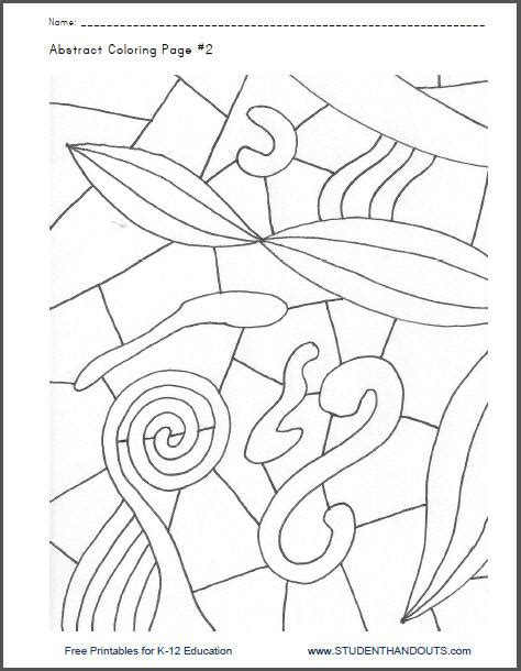 abstract coloring pages pdf abstract coloring page 2