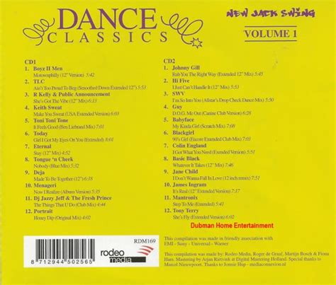 dance classics new jack swing dance classics new jack swing vol 1 dubman home