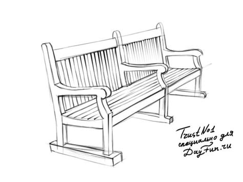 how to draw a bench how to draw bench step by step arcmel com
