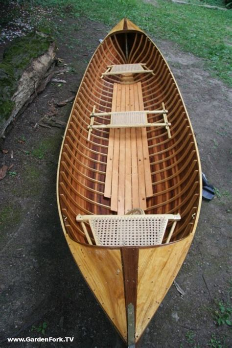 Handmade Canoe For Sale - adirondack guide boat handmade from wooden boat plans