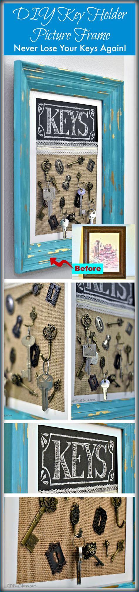 key organizer ideas solutions never misplace your keys diy key holder picture frame