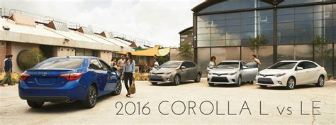 Difference Between Toyota Corolla L And Le Differences Between 2016 Toyota Corolla L And Le Trims
