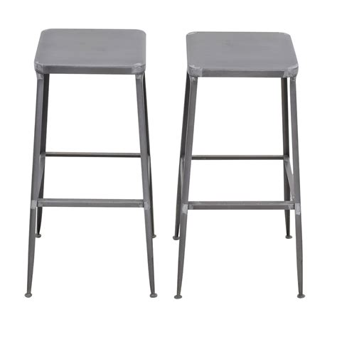 Flint Bar And Stool by 74 Cb2 Cb2 Flint Steel Bar Stools Tables