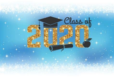 personalized snowflake decorations blue background  graduation backdrop