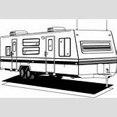 Camper | Free Stock Photo | Illustration of an rv trailer | # 9702