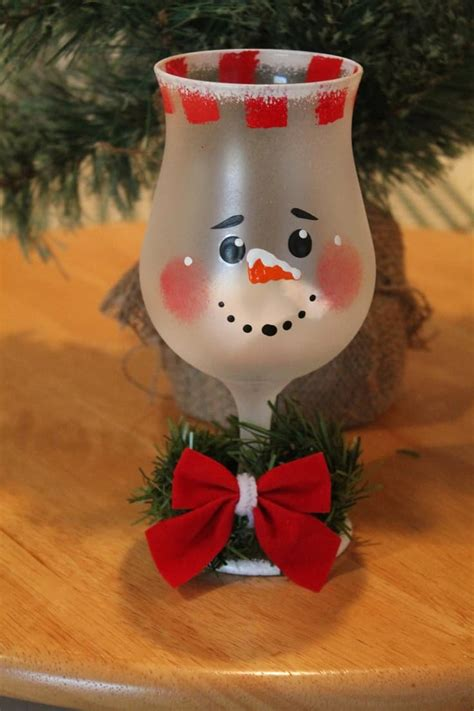 sparkle light christmas glasses 19 painted wine glass ideas to try this season