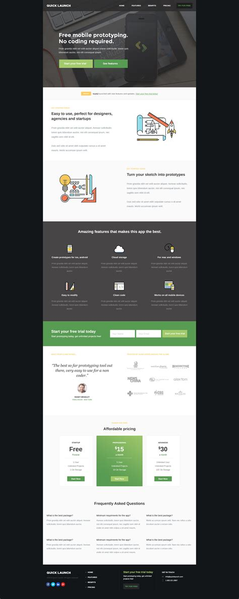 themeforest unbounce quickapp unbounce landing page by nasirwd themeforest