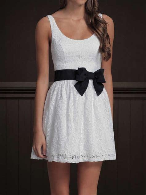 white dress with black bow belt dress edin