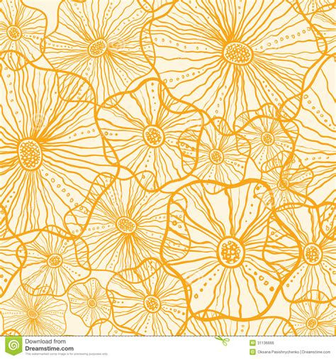 yellow pattern vector yellow floral shapes seamless pattern background royalty