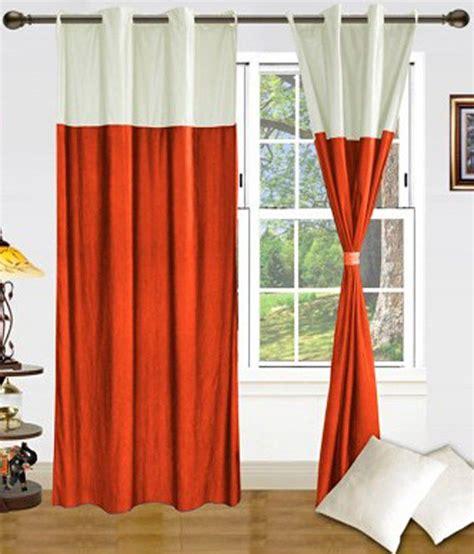 orange cream curtains samyak set of 2 door eyelet curtains buy samyak set of 2