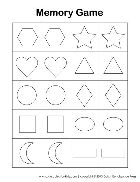 printable memory games 7 best images of kids memory game printable free