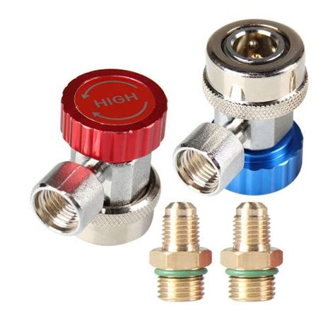 Coupler Kopling Connector R134a Top Quality sell r134a a c air condition coupler adapter high low manifold gas connectors motorcycle