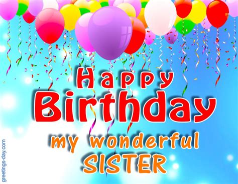birthday  sister ecards