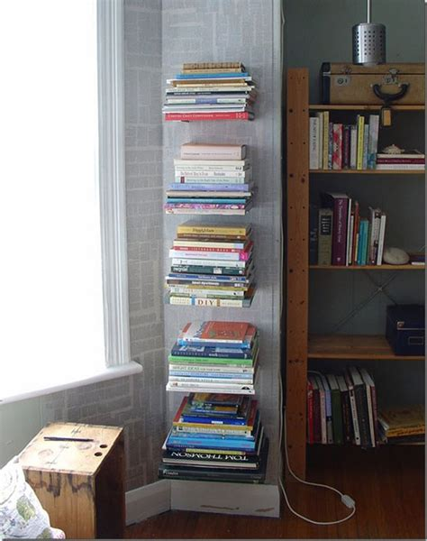 how to make your own invisible bookshelf without
