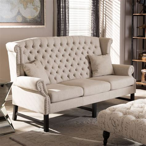 sussex beige linen sofa set sussex beige linen sofa by baxton studio studios modern
