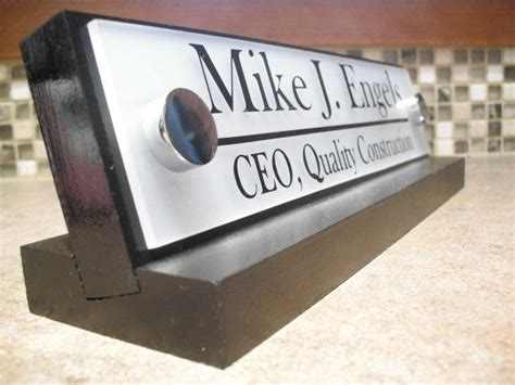 professional name plates for desks office desk name plate personalized executive or