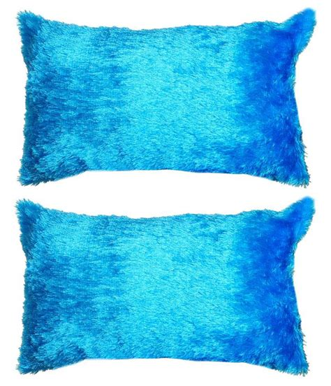 How To Make Pillow Fluffy Again by Click Shoppe Blue Fluffy Pillow Combo Of 2 Buy Click