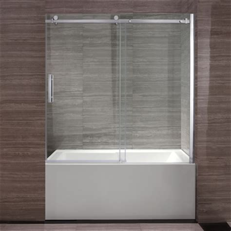 Shower Glass Doors Lowes Ove Decors 60 In Park Bathtub Door Lowe S Canada