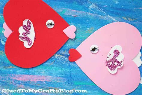 valentines day fish craft foam fish kid craft glued to my crafts