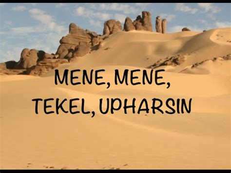 Meme Meme Tekel Upharsin - daniel belshazzar god s handwriting on the wall doovi