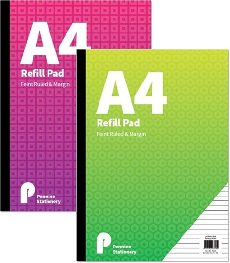 booth design refill pads a4 feint ruled and margin refill paper pad