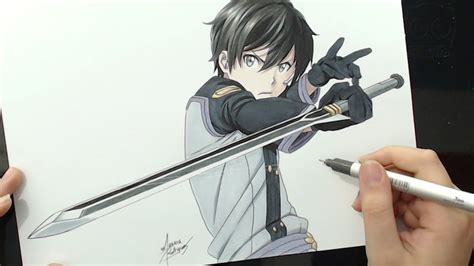 Online Scale Drawing speed drawing kirito sword art online ordinal scale