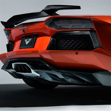 Lamborghini Aventador Rear Vorsteiner Aventador V Aero Rear Diffuser Carbon Fiber