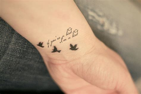 cute wrist tattoos gallery bird tattoos with quotes
