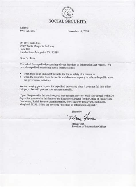 Award Letter Social Security Administration more stonewalling from the ssa orlytaitzesq