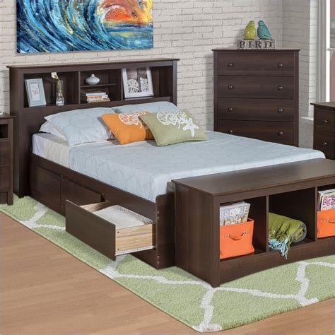 twin xl headboard twin xl espresso brown platform bed w headboard and
