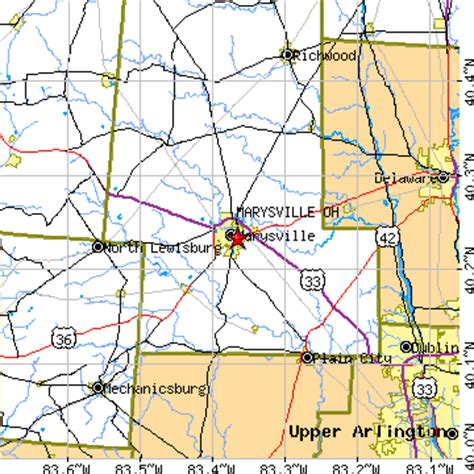 raymond ohio map marysville ohio oh population data races housing