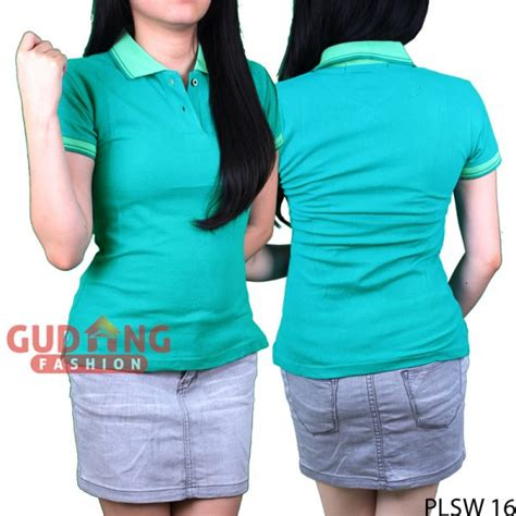 Inc Polo Shirt Hijau Tosca polo shirts keren wanita cotton pique hijau tosca tua