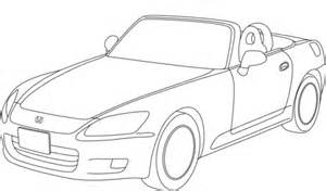 coloring pages of convertible cars honda accord convertible coloring page free printable