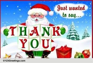 santa saying thank you free thank you ecards greeting