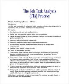 Task Analysis Template by Sle Task Analysis 6 Documents In Pdf Word